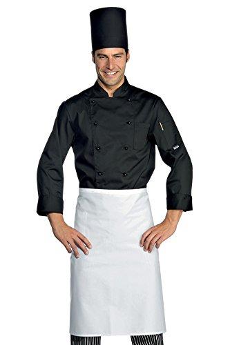 Mezza Cuoco Tessuto Cotone Manica Bottoni 22424 Classica m² Antipanico 100 Bianco Nero 3xl 210 Isacco Giacca Gr HUwH0