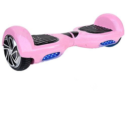 UL2272 Certified Hoverboard- Pink Electric Self Balancing Scooter With Built-In Bluetooth Speaker and LED Light