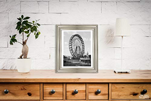 (New York Map Company  St. Louis Historic Black & White Photo, World's Fair Ferris Wheel, c1904, |Size: 8x10|Ready to Frame)