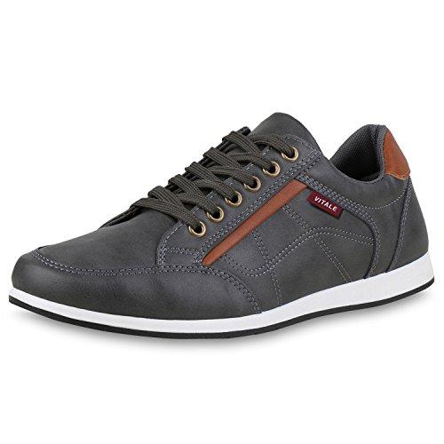 Chaussures De Vie Herren Espadrille Faible Grau Base