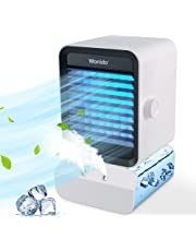 Wonido Portable Air Conditioner - Personal Mini Air Conditioner Fan 4-in-1 Evaporative Air Cooler with Humidifier/ 3 Speeds / 7 Colors Night Light, Desktop Swamp Cooler for Room Office Outdoor Travel