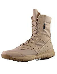 GRAMOT Men's BMM Jungle Boots&Desert Tactical Outdoor Combat Boots(Tan/Black) …