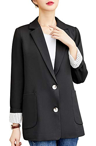 - Women's Blazer Jacket Corduroy Sport Coat Smart Formal Dinner Cotton Jacket Slim Fit Two Button Notch Lapel Coat