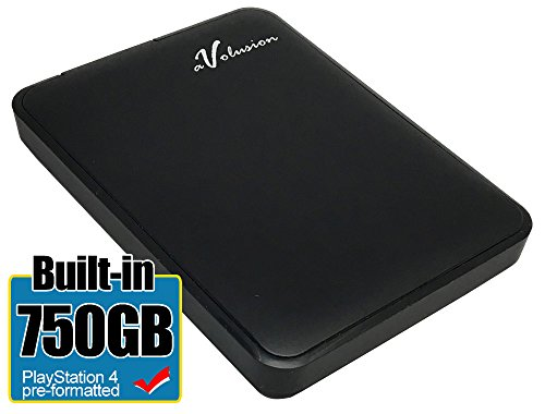 Avolusion 750GB USB 3.0 Portable External PS4 Hard Drive (PS4 Pre-Formatted) HD250U3-Z1 - w/2 Year Warranty by Avolusion