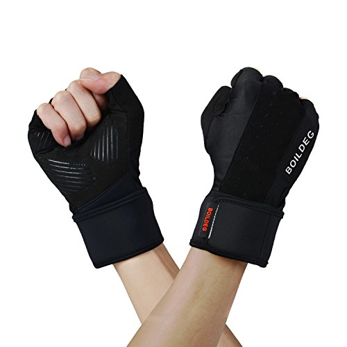BOILDEG Sport Gloves Full Palm Protection & Extra Grip Breathable Anti-Slip for Workout Exercise Weight lifting Training Fitness Suits Men & Women