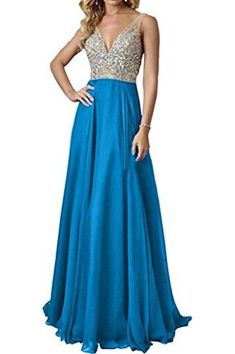 Chiffon Steine Braut Blau Marie La Langes Kleider Brautjungfernkleider Abendkleider Dunkel Jugenweil Gruen Cn4qSgxFw