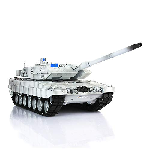 1/16 Scale Remote Control RC Tank, HengLong 1/16 Scale Winter Snow German Leopard 2A6 RC RTR Tank Metal Road Wheels 3889