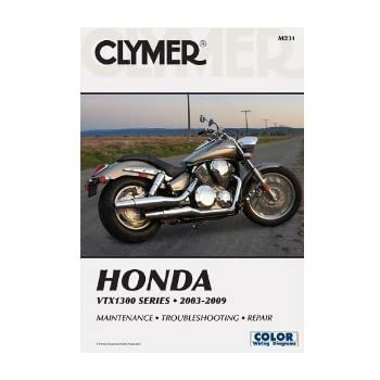 amazon com clymer repair service manual honda vtx1300 03 09 automotive rh amazon com 2007 Honda VTX 1300R 2007 Honda VTX 1800