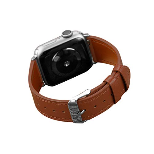 for Apple Watch Series 1/2/3/4 38/40mm Deluxe Leather Denim Bracelet Watch Strap