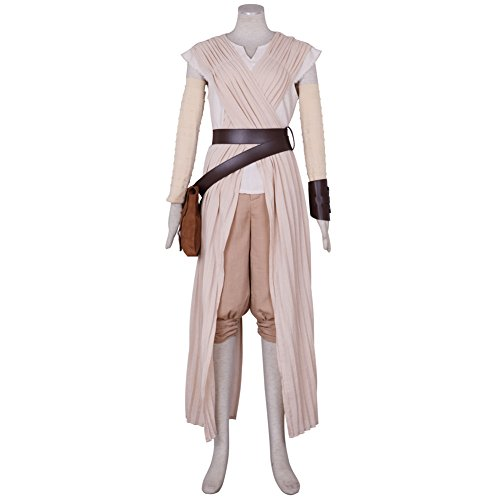 [CG Costume Women's Rey Dress Bag Belt Fancy Cosplay Costume Small] (Womens Material Pop Star Costumes)