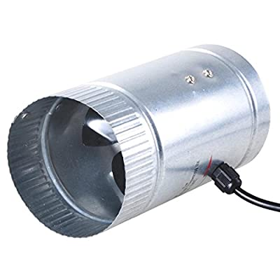 """4"""" Inch Inline Duct Booster Cooling Fan Exhaust Blower Aluminum Blade US"""