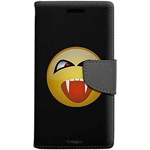 Samsung Galaxy S7 Edge Wallet Case - Vampire Smiley on Black Case Sales