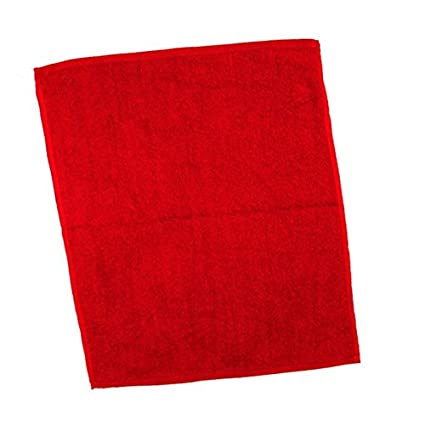 Promoción Velour Dobby con los dedos toallas, algodón, Rojo, talla única