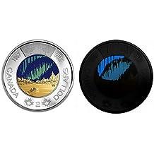 2017 Canada 150th Anniversary $2 Toonie BU **WORLD'S FIRST GLOW IN THE DARK CIRCULATION COIN**