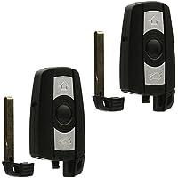 Car Key Fob Keyless Entry Remote fits BMW 3, 5, Series (KR55WK49123, KR55WK49127), Set of 2