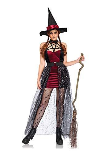 Glinda Wicked Halloween Costumes (Leg Avenue Women's Costume, Burgun/Blue,)