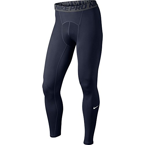 Nike Mens Pro Cool Compression Tights Obsidian/Dark Grey/White 703098-451 Size Small