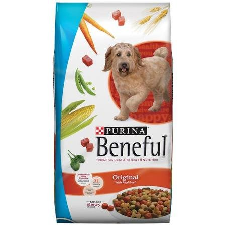 Original 40 Lb Bag - Beneful 40 lb Bag Dry Dog Food, Originals with Real Beef, 100% of the Nutrients Needed, Tender & Crunchy Bites, Wholesome Ingredients, 23 Vitamins & Minerals Accented with Spinach, Peas, & Carrots