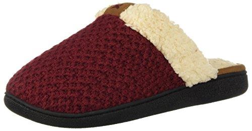 Dearfoams Women's Textured Knit Closed Toe Scuff Slipper B07D5HBJR9 B07D5HBJR9 Slipper Shoes 962461