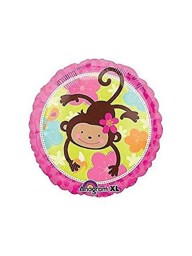 Pink Mod 'Monkey Love' Foil Mylar Balloon -