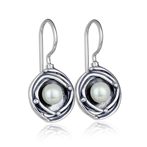 925 Sterling Silver Cultured Pearl Drop Earrings Bridal Wedding Jewelry Bridesmaids Gift