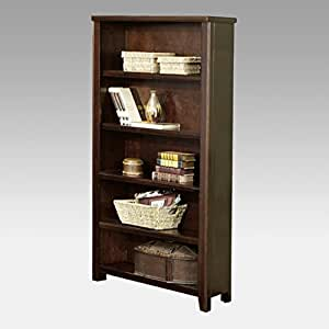 kathy ireland Home by Martin Tribeca Loft Cherry Open Bookcase - Fully Assembled
