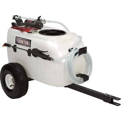 - Ironton Tow-Behind Broadcast and Spot Sprayer - 13 Gallon, 1 GPM, 12 Volt DC