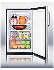 Summit FF521BLBISSTB Refrigerator, Stainless Steel