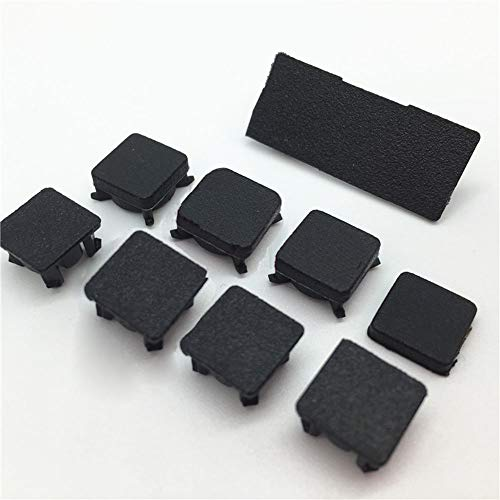 (Screw Feet Cover Cap Set for Sony Playstation 3 PS3 Slim 2000 3000 Console 9 PCS Rubber Feet Rubber Foot Cover)