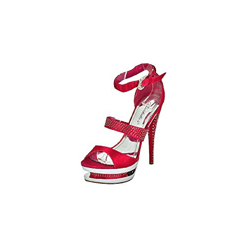 Breckelles Hudson-03 Sandales À Plateforme Fushia Femme