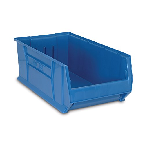 (Quantum QUS975 Plastic Storage Stacking Hulk Container, 30-Inch by 18-Inch by 12-Inch, Blue, Case of 1)