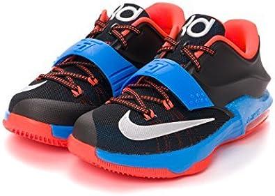 amazon com nike kd vii gs 7 okc thunder away black blue air max zoom youth basketball shoes 669942 002 baseball softball nike kd vii gs 7 okc thunder away