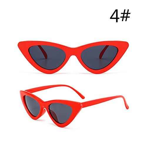 I Rojo De Mujeres De Gafas Espalda Oculos Sol De De Pequeñas De Gafas TIANLIANG04 Gato Gafas Hembra Ojo Uv400 Negro Gafas d Edad Sol De gwqdnAU5