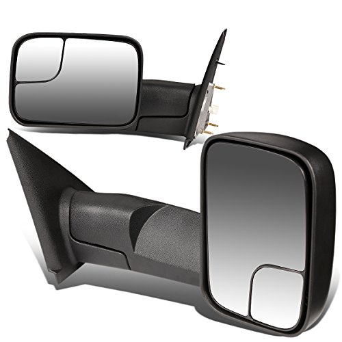 DNA Motoring TWM-012-T222-BK Pair of Towing Side Mirrors (Driver & Passenger Sides)