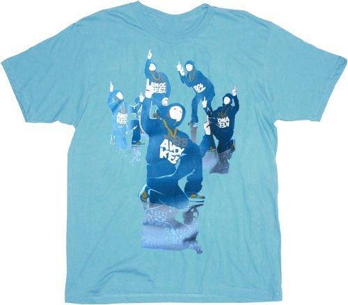 Jabbawockeez Dance Stack Logo Blue T-shirt Tee (XXX-Large (3X))