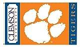 NCAA Clemson Tigers Flag, 3 x 5', Orange