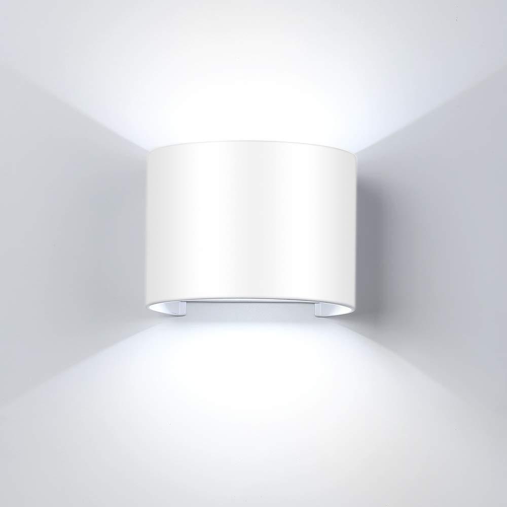IP65,/luz de color blanco Wei/ß 12w con /ángulo ajustable de haz LED 12.0W 230.00V Etime/ resistente al agua /L/ámpara LED de pared exterior
