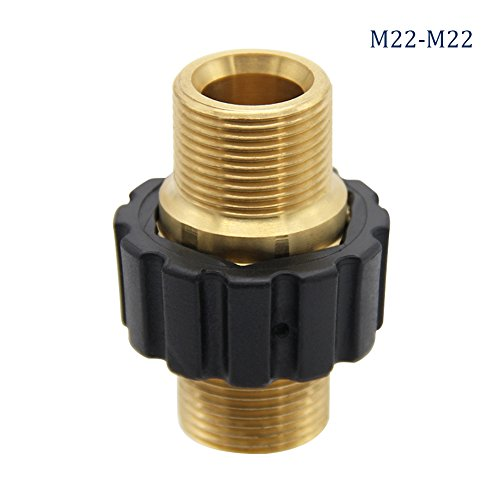 Twinkle Star Pressure Washer Hose Quick Connector, M22 Metric Male Thread Fitting, (Male Thread Fitting)