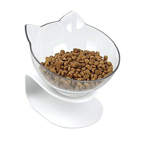 DamnCat - Cuenco para comida de gato con soporte elevado, ideal para gatos y perros pequeños: Amazon.es: Productos para mascotas