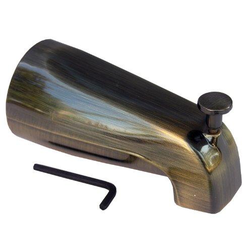 LASCO 08-1015 Bathtub Spout with Front Lift Diverter, Antique Brass Finish