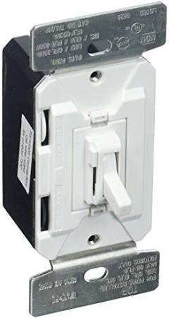 3 Way Preset Dimmer (Eaton TAL06P2-C2 AL Series Dimmers 300W All Load 3-Way and Single Pole Toggle Preset and Color Kit (White, Light Almond, Ivory))