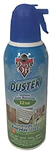 Dust-off Compressed Gas Duster Single, 12 oz. Can