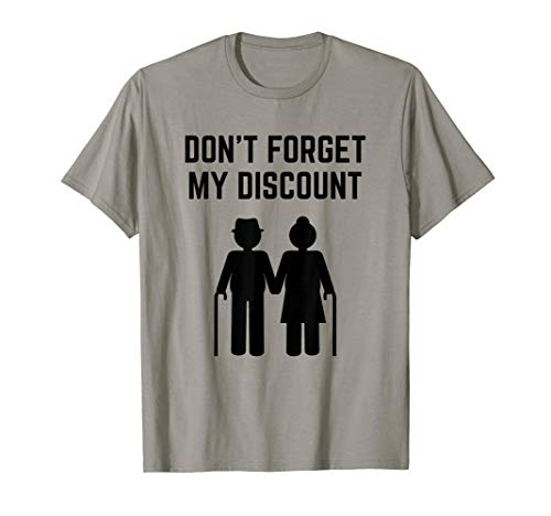Senior Citizen Discount Elderly Old People Funny T-Shirt (Old Timer Senior Citizen Elderly Person Crossword)
