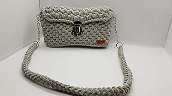 Handmade crochet cross bag