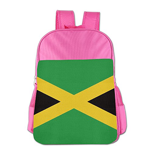 Price comparison product image DS-CO Children Jamaica Flag Backpack Travel Shoulder Bag Students Schoolbag Bookbag For Kids Girls Boys(2 Colors:Pink,Royalblue)
