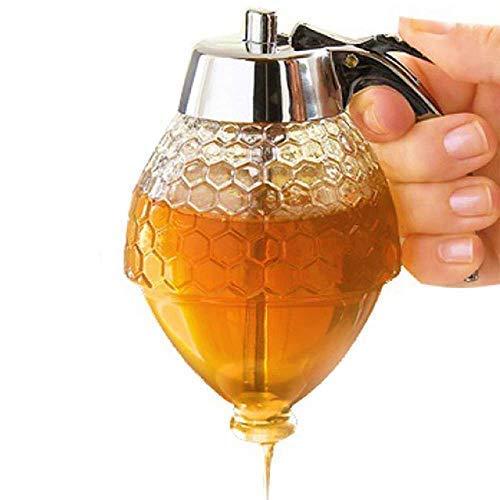 DM Honey Dispenser - Kids Friendly, Syrup Dispenser, Shatter Proof, BPA Free (Honey Bottles)
