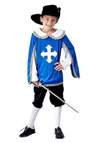 MA ONLINE Childrens Musketeer Outfit Boys Medieval Knight Festivals Theme Party Costume 10-12 Years -