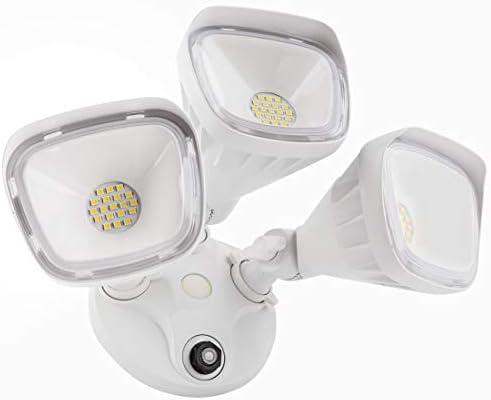 JJC Security Lights Outdoor Flood Light LED Dusk to Dawn Photocell Sensor Waterproof 30W 200W Equiv. 5000K-Daylight 2700LM DLC Certified ETL-Listed
