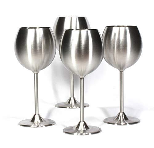 Trendiware Stainless Steel Stemmed Wine Glasses (Stainless Steel, 4)
