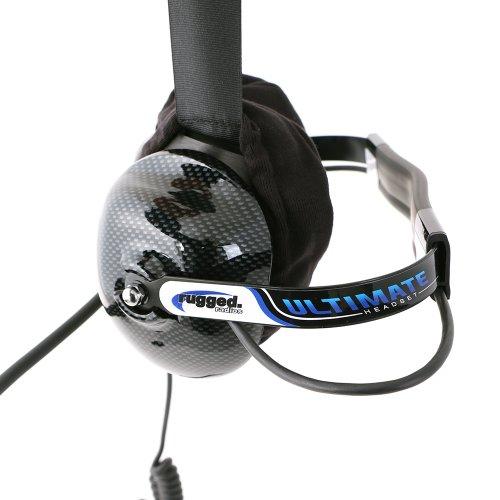 Rugged Radios H42-ULT Carbon Fiber Behind The Head Ultimate Headset with Gel Ear Seals, Cloth Ear Covers and Dynamic Noise Cancelling Microphone by Rugged Radios (Image #4)